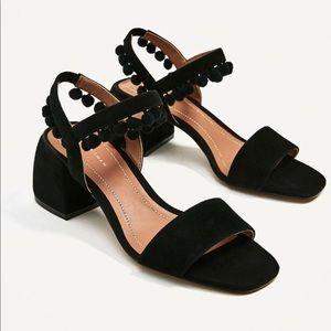 NWT Zara Pom Pom sandals